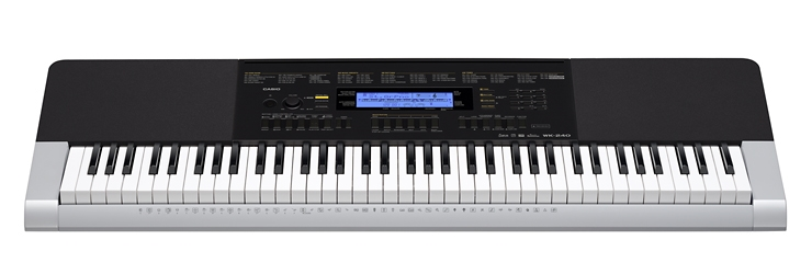 Đàn organ Casio WK-240 bàn phím kiểu piano 76 phím