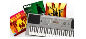 158 điệu đệm tự động với chức năng Music Database