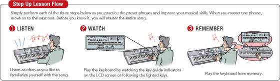 tập đàn 3 bước của casio phím sáng