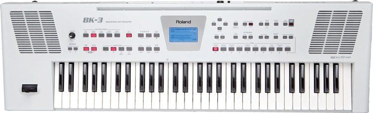 đàn organ roland bk3 màu trắng